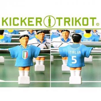 11 ks dresy pro hráče stolního fotbalu, Itálie, modré