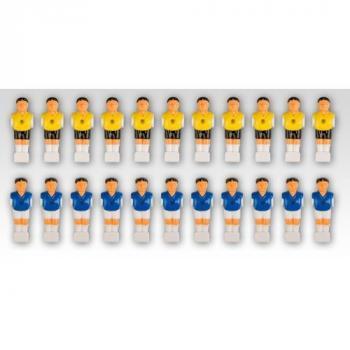 22 ks náhradních hráčů pro stolní fotbaly a fotbálky, pro tyče 15,9 mm
