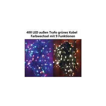 Blikající vánoční řětěz venkovní / vnitřní, 400 LED diod, 40 m