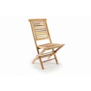 Dřevěná teaková zahradní židle bez područek, masivní dřevo