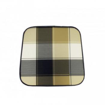 Polstr / podsedák na židle a křesla, barevný, kostkovaný vzor