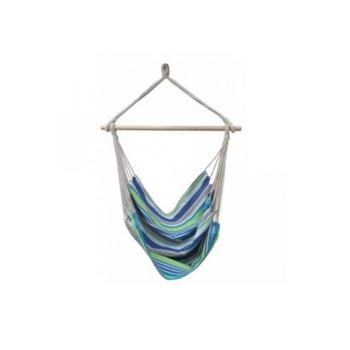 Závěsná látková houpačka / houpací sedátko, modrá s pruhy