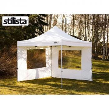 2 ks boční plachta s oknem pro stany Stilista, polyester, bílá