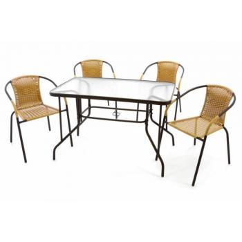 Levná rodinná sestava venkovního nábytku, pro 4 osoby