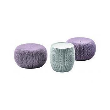 Designový set posezení exteriér / interiér, taburety + stolek