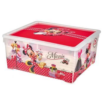 Větší skladovací box do dětského pokoje 18,5 l, potisk Minnie