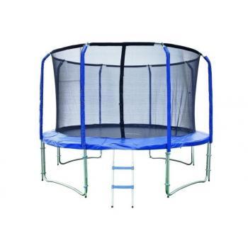 Velká trampolína s vnitřní bezpečnostní sítí, děti / dospělí, 457 cm, 150 kg