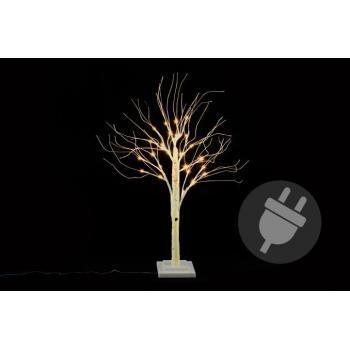 Okrasný umělý strom bříza do bytu / na zahradu, svítící, 70 cm