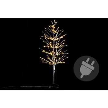 Okrasný umělý strom do bytu / na zahradu, svítící diody, 120 cm