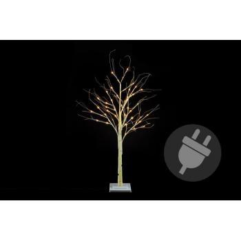 Okrasný umělý strom bříza do bytu / na zahradu, svítící, 120 cm