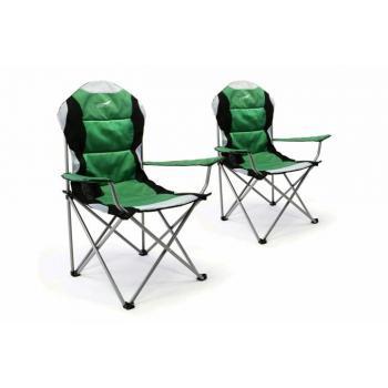 2 ks skládací židlička na kempování / rybaření, ocelový rám