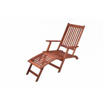Kvalitní dřevěné venkovní lehátko, odnímatelná podložka nohou