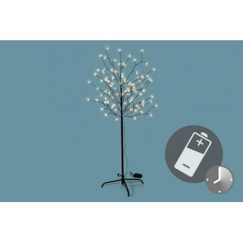 Velký umělý strom se svítícími kvítky, na baterie, 150 cm