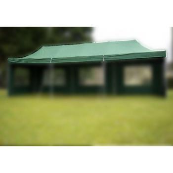 Samostatná střecha pro nůžkové stany 3x9 m, zelená