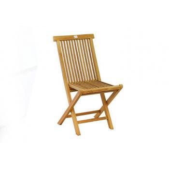 Masivní skládací židle z teakového dřeva, bez područek