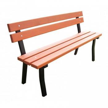 Masivní venkovní lavička kov / dřevo, 150 cm