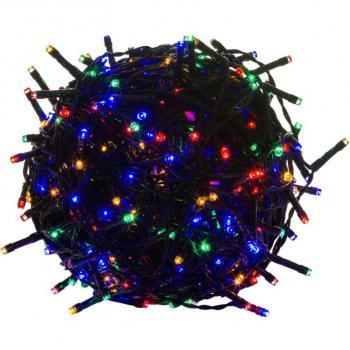 Světelný vánoční řetěz barevný, venkovní / vnitřní, 50 LED, 5 m