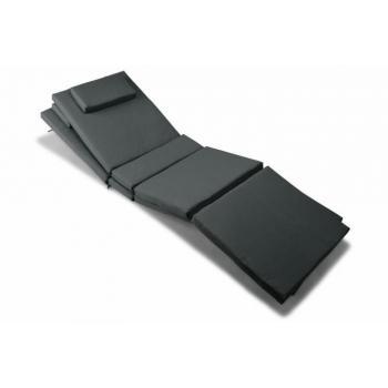 2 ks pratelný polstr s polštářkem na lehátka, antracit