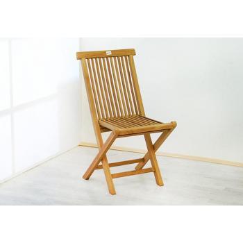 2 ks teaková židle bez područek, skládací provedení