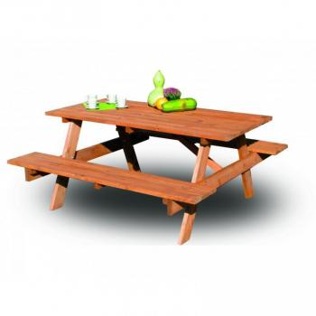 Dřevěný pivní set stůl+ lavice, 160 cm, impregnováno