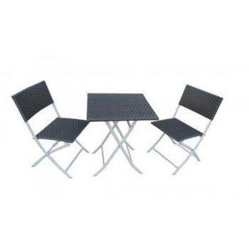 Malý set nábytku na balkon / terasu, kov + plast