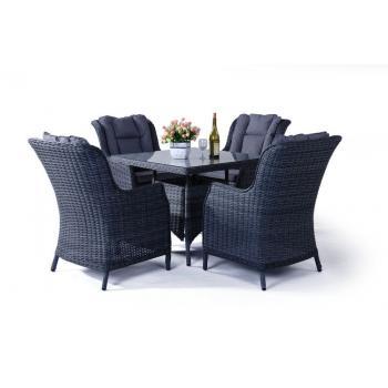 Luxusní ratanový nábytek na terasu / do bytu, stůl + 4 křesla