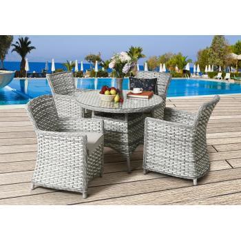 Luxusní set ratanového nábytku na zahradu / do interiéru, pro 4