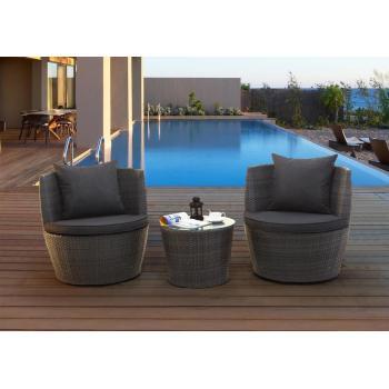 Menší designový set ratanového nábytku, na terasu / balkon