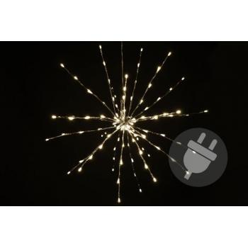 Vánoční LED svítící hvězda venkovní / vnitřní, 120 LED diod, 60 cm