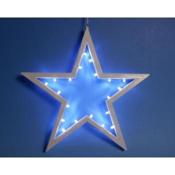 Světelná závěsná hvězda do bytu na baterie, 20 LED diod, 25,5 cm