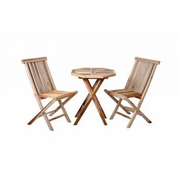 Malý set venkovního nábytku pro 2 osoby, masivní teakové dřevo