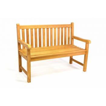 Venkovní lavička z masivního teakového dřeva 120 cm