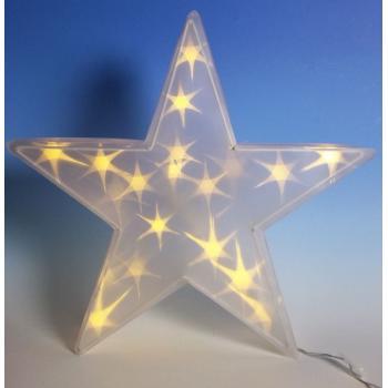 Svítící vánoční hvězda do bytu, k postavení nebo zavěšení, 35 cm