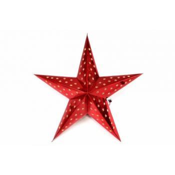 Vánoční svítící hvězda na baterie, časovač, 45 cm, červená