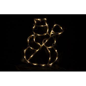 Svítící vánoční dekorace do interiéru- sněhulák k zavěšení, 40 cm