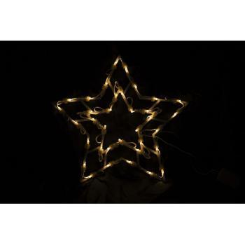 Vánoční dekorace- svítící hvězda s LED diodami, 40 cm