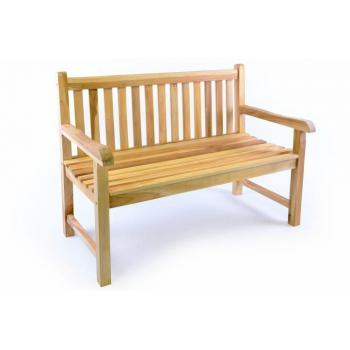 Masivní zahradní lavice pro 2 osoby, tvrdé teakové dřevo, 120 cm