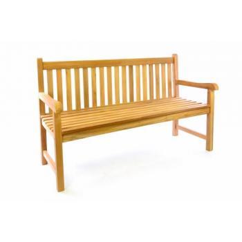 Masivní venkovní lavička k posezení, teakové dřevo, 150 cm