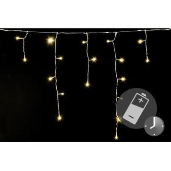 Vánoční svítící déšť na baterie, venkovní / vnitřní, automatické rozsvícení, 5 m