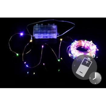 Vánoční osvětlení- drát s mini LED diodami, dálkové ovládání, 9,7 m