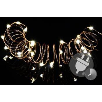 Vánoční řetěz- drát s mini LED diodami do bytu, vnitřní, 4,9 m