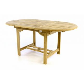 Masivní dřevěný rozkládací stůl- tvrdé teakové dřevo, 120 - 170 cm