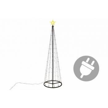 Velký vánoční světelný kužel před dům / na zahradu, 240 cm