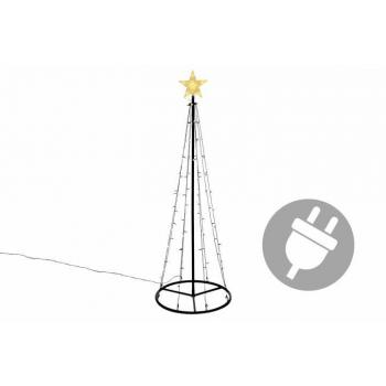 Velký vánoční světelný kužel před dům / na zahradu, 180 cm