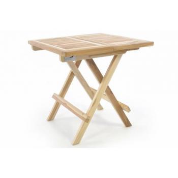 Menší skládací stolek na zahradu / terasu, balkon, teakové dřevo, 50x50 cm