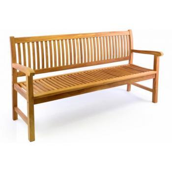 Masivní zahradní lavice z teakového dřeva, pro 3 osoby, 180 cm