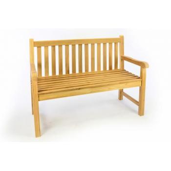 Menší masivní venkovní lavička, teakové dřevo, 120 cm