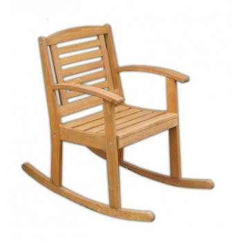 Pevné dřevěné houpací křeslo venkovní / vnitřní, impregnováno, nosnost 100 kg