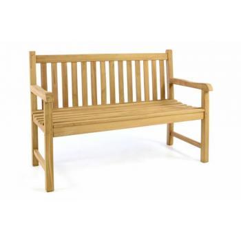 Menší zahradní lavice z teakového dřeva, 2- místná, 130 cm