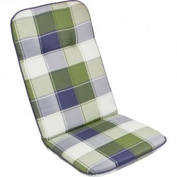 Textilní podsedák na křesla a židle, kostkovaný vzor, vysoké opěradlo, 116x50 cm